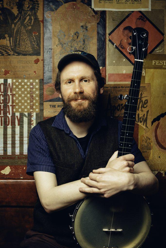 Michael Starkey with banjo